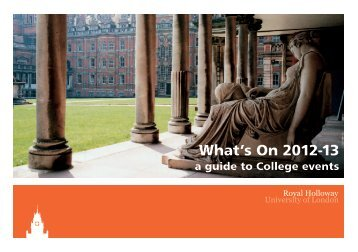 What's On 2012-13 - Royal Holloway, University of London