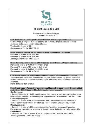 Bibliothèques de la ville - La Seyne-sur-Mer
