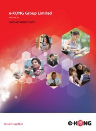 Annual Report 2012 - e-KONG Group Limited
