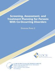 Screening, Assessment, and Treatment Planning for Persons With ...