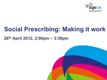 Social Prescribing: Making it work - Workcast