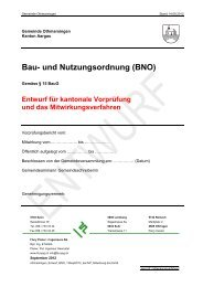 Bau- und Nutzungsordnung (BNO) - Othmarsingen