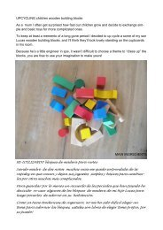 UPCYCLING children wooden building blocks As a mum I often get ...