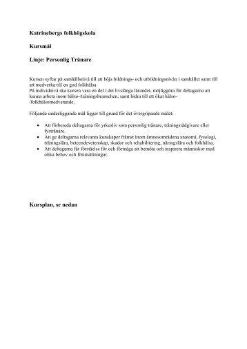 Kursplan & mål - Region Halland