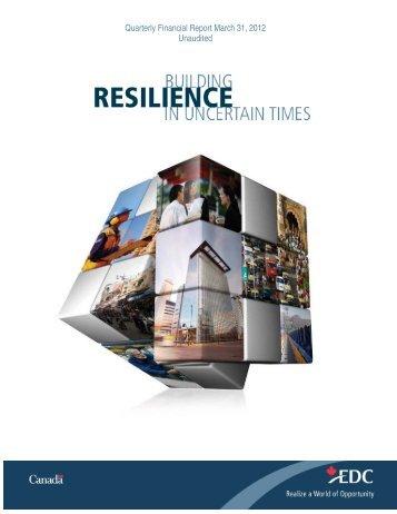 Quarterly Financial Report Q1 2012 - Export Development ... - EDC