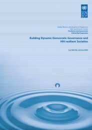 Building Dynamic Democratic Governance and HIV-resilient Societies
