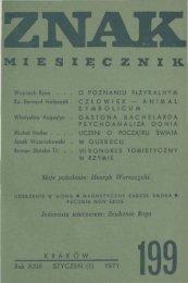 Nr 199, styczeń 1971 - Znak