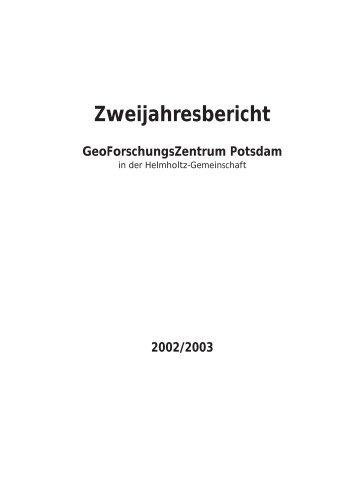Zweijahresbericht - Bibliothek - GeoForschungsZentrum Potsdam