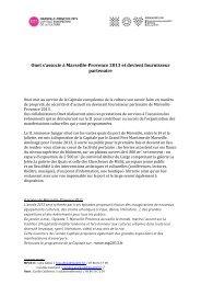 Télécharger le communiqué de presse (PDF) - Marseille Provence ...