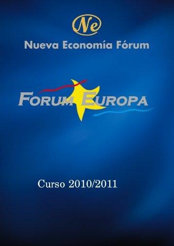 Curso 2010/2011 - Nueva Economía Fórum