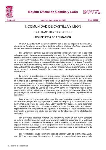 BOCYL n.º 43, Jueves 3-marzo-2011 - IES Odra-Pisuerga