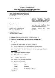 Pembantu Muzium (S17) - Jabatan Pendaftar - Universiti Sains ...