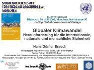 Hans Günter Brauch - Arbeitsgruppe Friedensforschung und ...