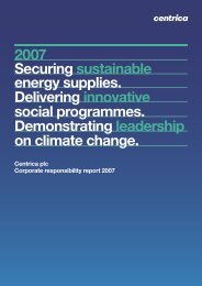 Download the 2007 Corporate Responsibility report PDF - Centrica