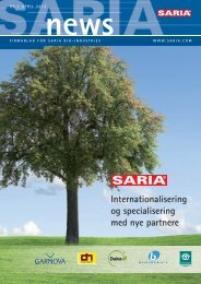 Internationalisering og specialisering med nye partnere - Saria Bio ...