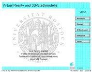 Virtual Reality und 3D-Stadtmodelle - Geoinformatik-Service der ...