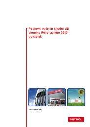 Poslovni načrt in ključni cilji skupine Petrol za leto 2013