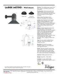 LARGE METRO - Wall Mount - Phoenix Products