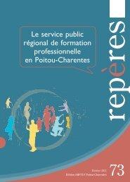 Le service public régional de formation professionnelle en ... - ARFtlv