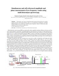 Simultaneous and self-referenced amplitude and phase ...