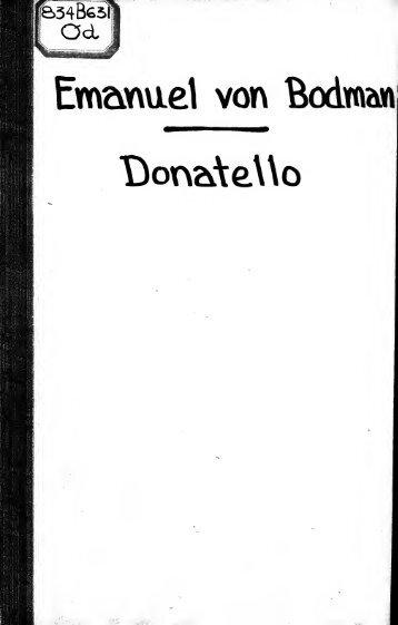 Donatello [microform] : Tragödie in fünf Aufzügen
