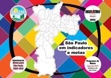 São Paulo em Indicadores e Metas - Rede Nossa São Paulo