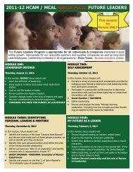 2011-12 HCAM / MCAL Special Focus FUTURE LEADERS