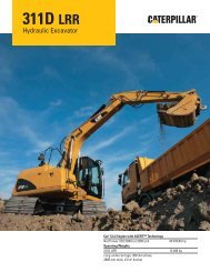 311D LRR Hydraulic Excavator Specifications