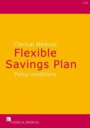 E1113 policy conditions - Clerical Medical