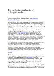 Test, certificering og deklarering af gylleseparationsanlæg