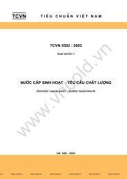 TCVN 5502 : 2003 n−íc cÊp sinh ho¹t - yªu cÇu chÊt l−îng