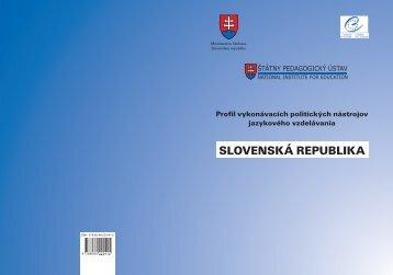 Profil vykonávacích politických nástrojov jazykového vzdelávania ...