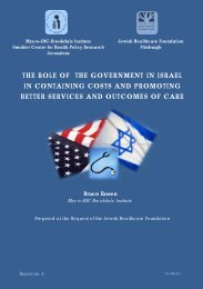 the role of the government in israel in containing costs and ...