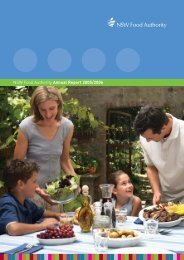 Annual Report 2005-06 - NSW Food Authority - NSW Government