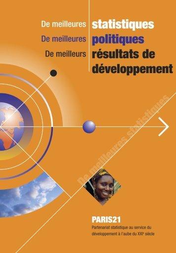 d statistiques politiques résultats de développement - Paris21