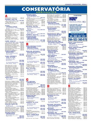 assinantes conservatória - página 1 - Lista Telefônica Eguitel