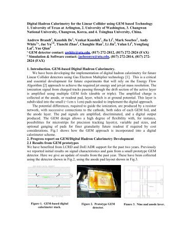 Digital Hadron Calorimetry for the Linear Collider using GEM based ...