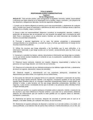 Ley de Responsabilidades de los Servidores Públicos - Instituto ...