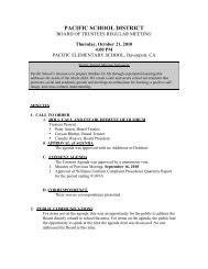 Board Minutes 10-21-10 - Pacific School! - Santa Cruz County Office ...