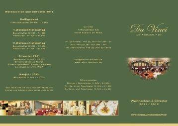 Weihnachten und Silvester 2011 - Da Vinci