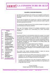Tendances avril 2012 - Cellule Économique du Bâtiment et des ...