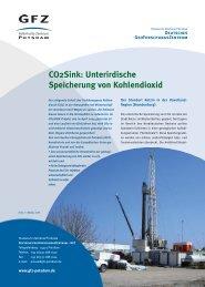 CO2Sink: Unterirdische Speicherung von Kohlendioxid