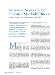 Screening Newborns for Inherited Metabolic Disease