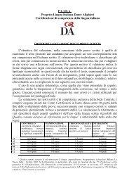 Criteri di valutazione per le prove scritte - Plida