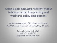 Using Physician Assistant Profile Data to Inform Curriculum ...