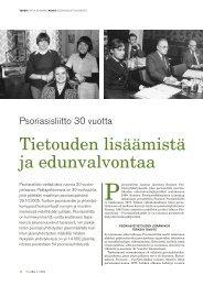 Tietouden lisäämistä ja edunvalvontaa - Psoriasisliitto
