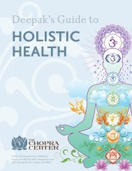 Deepak's Guide to Holistic Health - The Chopra Center