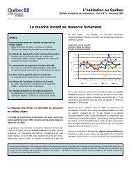 Le marché locatif se resserre fortement - Société d'habitation du ...