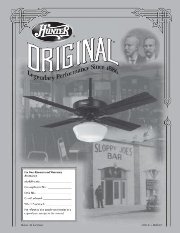 caution - Hunter Fan Company Intranet