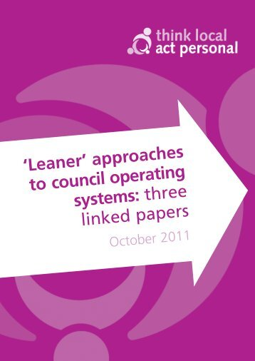 'Leaner' approaches to council operating systems - Think Local Act ...